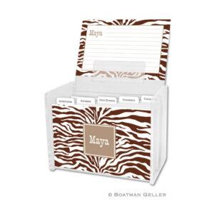 Recipe Box - Zebra