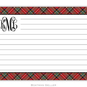 Recipe Cards - Plaid Red