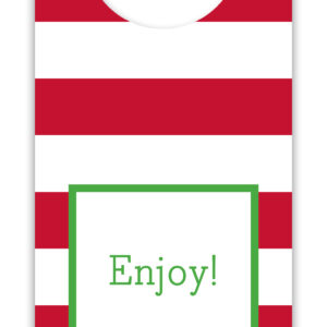 Wine Tags - Awning Stripe Red