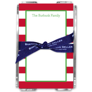 Note Pads - Awning Stripe Red