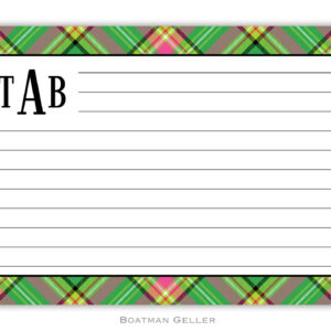 Recipe Cards - Preppy Plaid