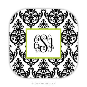 Coasters - Madison Damask White w/Black