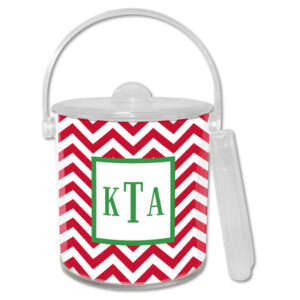 Ice Bucket - Chevron Red