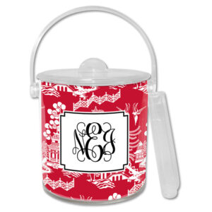 Ice Bucket - Chinoiserie Red