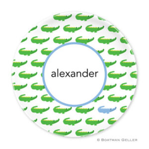 Plate-Alligator w/Blue